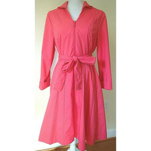 SAMUEL DONG Coral Zipper Embellish Trench Coat NWT
